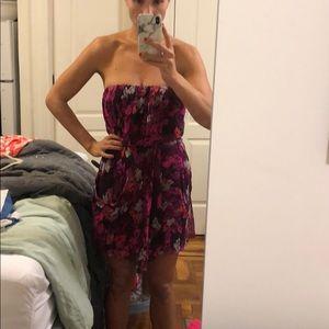 Tibi strapless pink purple cocktail dress size 8